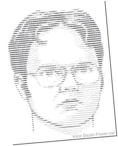 Single Line Keyboard Art : Line ascii art